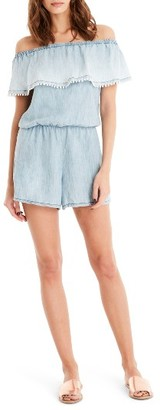 Women's Michael Stars Havana Off The Shoulder Romper $158 thestylecure.com