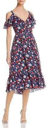 Kate Spade Daisy Print Silk Midi Dress