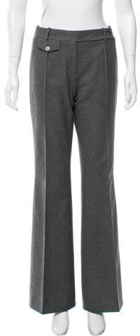 CelineCéline Wool Wide-Leg Pants