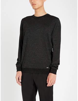HUGO Metallic wool-blend jumper