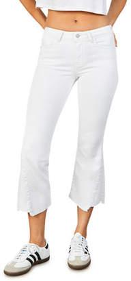 etica Micki Flare Jeans w/ Chewed Hem