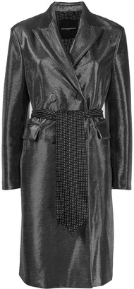 Ermanno Scervino metallic trench coat