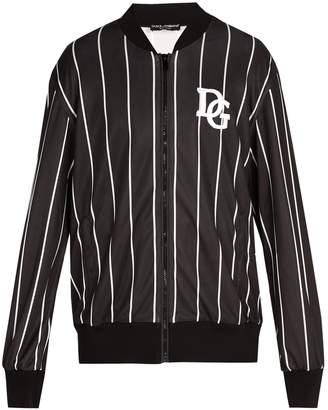 Dolce & Gabbana Varsity striped bomber jacket