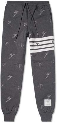 Thom Browne Skier Embroidery Quilted Sweatpant