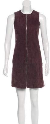 Balenciaga Suede Sleeveless Mini Dress