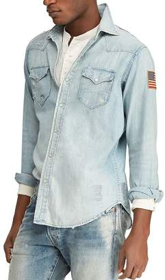 1b99e28d083 Polo Ralph Lauren Flag Western Classic Fit Denim Shirt