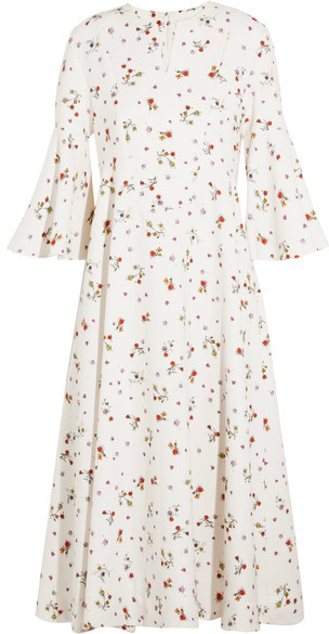 CarvenCarven - Floral-print Crepe Midi Dress - White