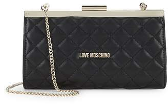 Love Moschino Women's Quilted Convertible Clutch