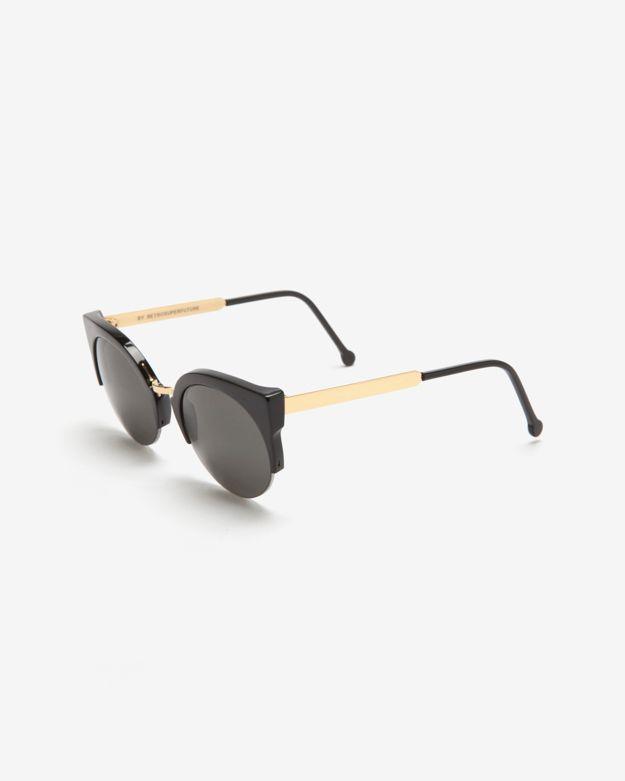 Super Sunglasses Lucia Francis Black Sunglasses