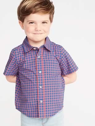02e44b61 Old Navy Built-In Flex Gingham Shirt for Toddler Boys