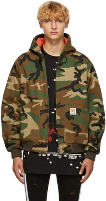 R 13 Green Camouflage Duck Jacket