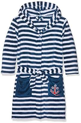 Playshoes Boy's Fleece Bathrobe Maritime Dressing Gown,(Manufacturer Size:110/116)