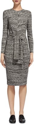 Whistles Ira Marled Tie Front Dress $210 thestylecure.com