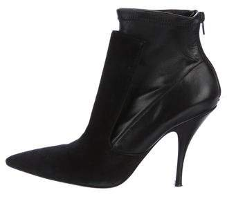 Givenchy Suede Pointed-Toe Ankle Boots