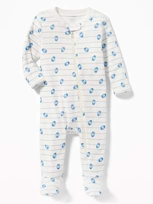 Old Navy Easter-Print Footed One-Piece for Baby