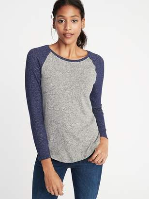 Old Navy Relaxed Plush-Knit Raglan Tee for Women