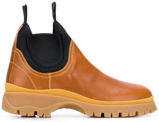 Prada panelled slip-on boots