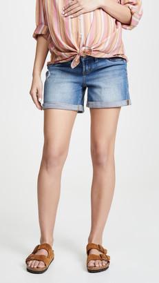 Ingrid & Isabel Mia Boyfriend Shorts with Elastic Insets