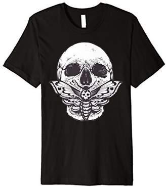 Moth Vintage Skull Fitted Tshirt & Skull Goth Tee Shirt