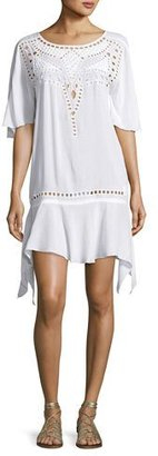 Vix Gabi Eyelet Coverup Dress, White $188 thestylecure.com