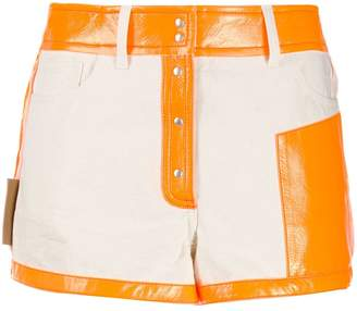Courreges two-tone shorts
