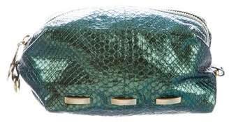 Nada Sawaya Cosmo Python Crossbody Bag