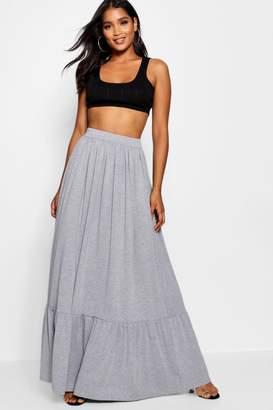 boohoo Tiered Floor Sweeping Maxi Skirt