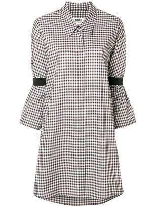MM6 MAISON MARGIELA checked shirt dress