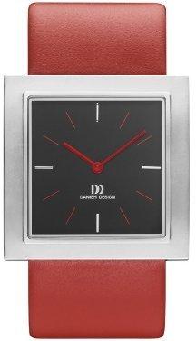 Danish Design (ダニッシュ デザイン) - デンマークデザインiv14q1009ステンレススチールCaseレッドLeather Band Black Dial Women 's Watch