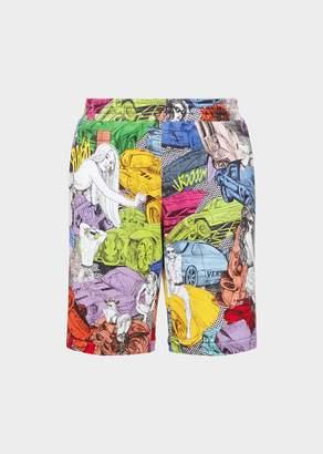 Versace Comic Crash Print Shorts