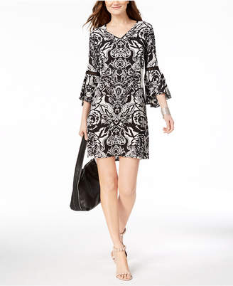 INC International Concepts I.n.c. Petite Lantern-Sleeve Shift Dress, Created for Macy's