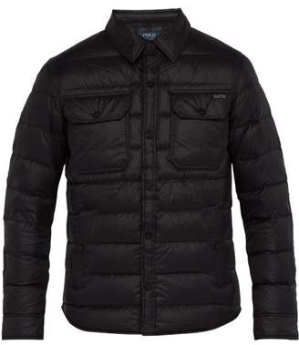 cbea591487a9 Polo Ralph Lauren Point Collar Quilted Down Jacket - Mens - Black
