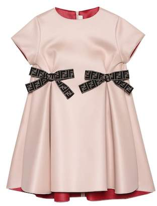 Fendi Bow-trimmed A-line dress