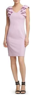 Donna Karan Ruffled Crepe Dress