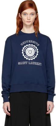 Saint Laurent Navy Universite Sweatshirt