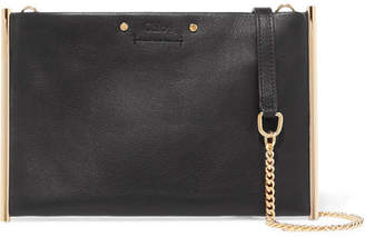Chloé Roy Small Textured-leather Shoulder Bag - Black
