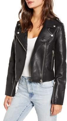Blank NYC BLANKNYC Tonal Star Faux Leather Moto Jacket