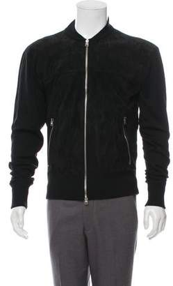 Tom Ford Wool & Suede Bomber Jacket
