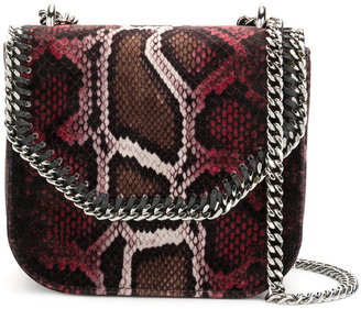 snakeskin-effect mini Falabella Box shoulder bag