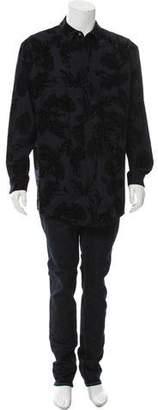 Alexander Wang Velvet Jacquard Wool Shirt