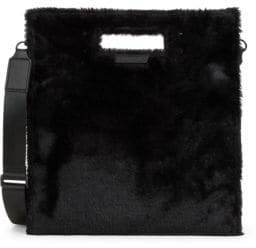 KENDALL + KYLIE Faux Fur-Trimmed Shoulder Bag