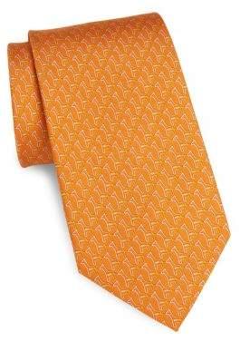 Salvatore Ferragamo Silk Paperclip Giraffe Tie