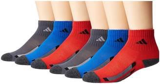 adidas Kids Vertical Stripe Quarter Socks 6-Pack Kids Shoes