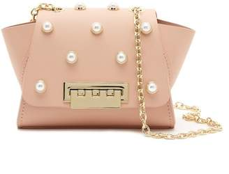 Zac Posen Mini Faux Pearl Leather Crossbody Bag