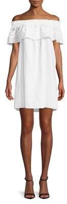 Dorothy Perkins Off-the-Shoulder Eyelet Dress