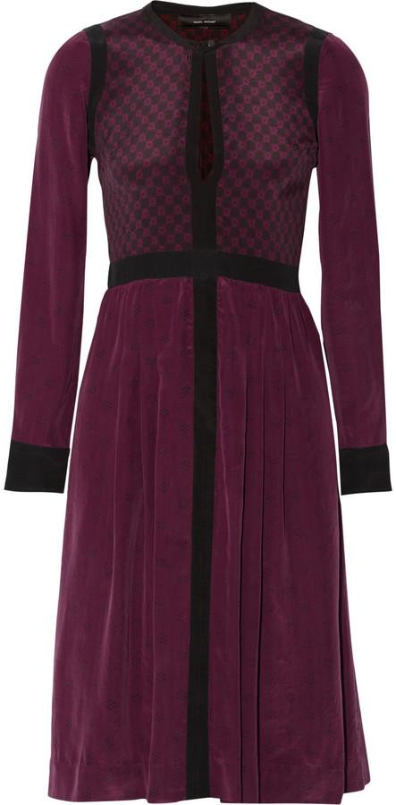 Isabel Marant Marion printed washed-silk dress