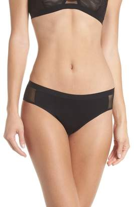MARY YOUNG Mesh Panel Bikini Briefs