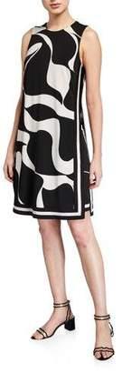 Trina Turk Island Colorblock Sleeveless Shift Dress