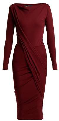 Vivienne Westwood Vian Draped Jersey Dress - Womens - Burgundy