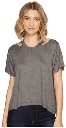 Nicole Miller Riley Jersey Cut Out Shirt Women's T Shirt